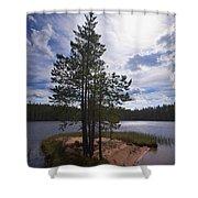 Lake Huosius At Hossa Shower Curtain