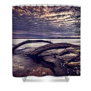 Lake Neatahwanta Shower Curtain by Everet Regal