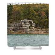 Lake Superior Pictured Rocks 49 Shower Curtain