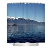 Lake With Snow-capped Mountain Shower Curtain