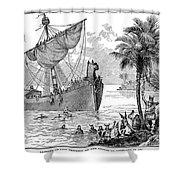 Landing Of Leif Ericsson Shower Curtain