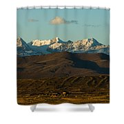 Landscape Of The Highlands And The Cordillera Real. Republic Of Bolivia. Shower Curtain