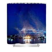 Laser Sky Shower Curtain