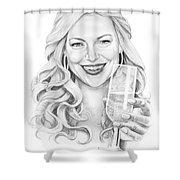 Laura Prepon Shower Curtain