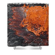Lava Bursting At Edge Of Active Lava Shower Curtain