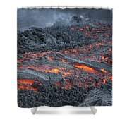 Lava Flow On The Flank Of Pacaya Shower Curtain