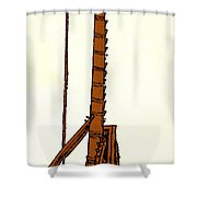 Leonardo Da Vincis Lifting Gear Shower Curtain by Science Source