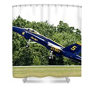 Lift Off Shower Curtain by Greg Fortier