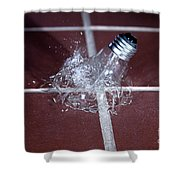 Light Bulb Smashing Shower Curtain