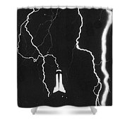 Lightning Strikes Empire State Shower Curtain