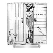 Lincoln Cartoon, 1863 Shower Curtain