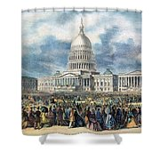 Lincoln Inauguration, 1865 Shower Curtain