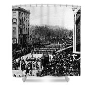 Lincolns Funeral Procession, 1865 Shower Curtain by Photo Researchers