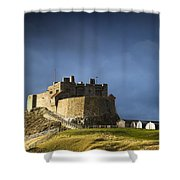 Lindisfarne Castle On A Volcanic Mound Shower Curtain
