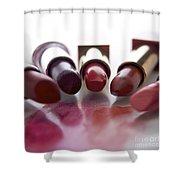 Lipsticks Shower Curtain