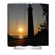 Little Sable Point Lighthouse Shower Curtain