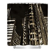 Lloyds Building London In Gold Shower Curtain