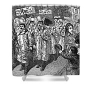 Lockwood Campaign, 1884 Shower Curtain