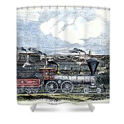 Locomotive Factory, C1855 Shower Curtain