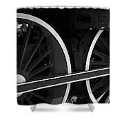 Locomotive Wheels Shower Curtain