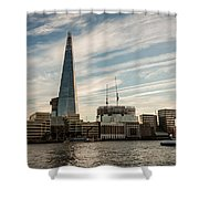 London Skyline Sunset Shower Curtain