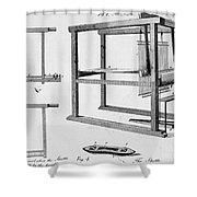 Loom: Fly Shuttle, 1733 Shower Curtain