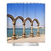 Los Arcos Amphitheater In Puerto Vallarta Shower Curtain