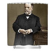 Louis Pasteur, French Chemist Shower Curtain by Omikron