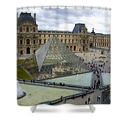 Louvre Museum. Paris Shower Curtain
