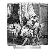 Lovers, 18th Century Shower Curtain