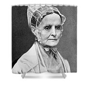 Lucretia Coffin Mott Shower Curtain by Granger