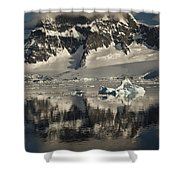 Luigi Peak Wiencke Island Antarctic Shower Curtain by Colin Monteath
