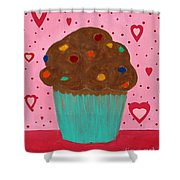 M And M Cupcake Shower Curtain