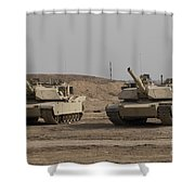 M1 Abrams Tank At Camp Warhorse Shower Curtain