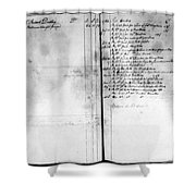 Madison: Account Book Shower Curtain
