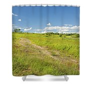 Maine Blueberry Field In Summer Shower Curtain