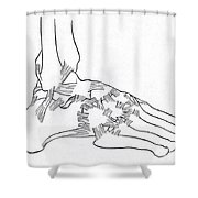 Major Ligaments Of The Foot Shower Curtain