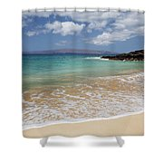 Makena Ocean And Sand Shower Curtain