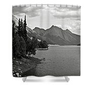 Maligne Lake Shower Curtain