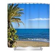 Marbella Beach In Spain Shower Curtain