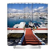 Marina In Puerto Banus Shower Curtain