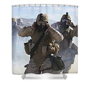Marines And Sailors Participate In An Shower Curtain