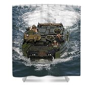 Marines Navigate An Amphibious Assault Shower Curtain