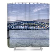 Market Street Bridge Shower Curtain