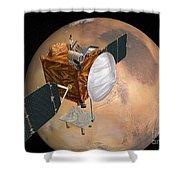 Mars Telecommunications Orbiter Shower Curtain