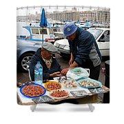 Marseilles Fishermen Shower Curtain