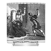 Martyrdom Of St. Stephen Shower Curtain