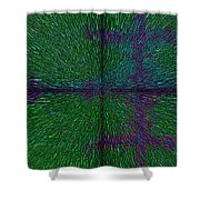 Matrix Abstract Shower Curtain