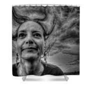 May-belle Chasing The Wind Shower Curtain