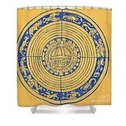Medieval Zodiac Shower Curtain
